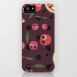 Fruit mix pattern iPhone Case
