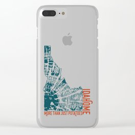Idahome; More than Potatoes Clear iPhone Case