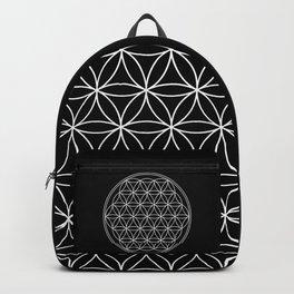 Flower of life on black Backpack