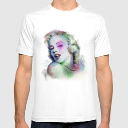 Marilyn under brushes effects T-shirt