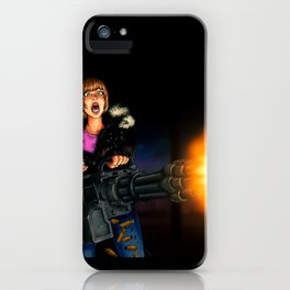 gatling girl iPhone Case