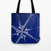compass Tote Bags featuring Compass by Carl Christensen