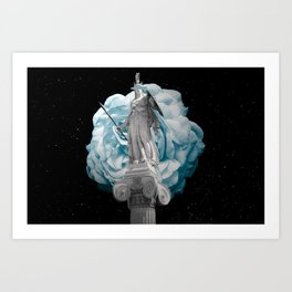 She Takes on the World Art Print