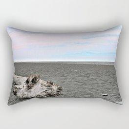 Black Sand Color Sky Rectangular Pillow
