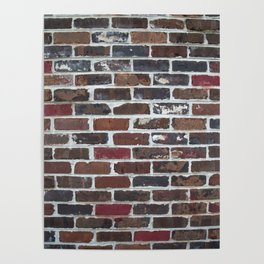 Brick Wall Vertical Poster