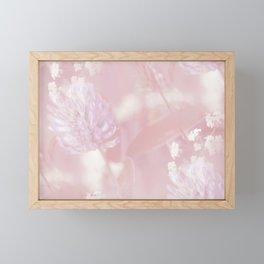 Romantic Moment Pink White Flowers #decor #society6 Framed Mini Art Print