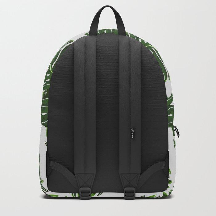 Monstera Pug Backpack