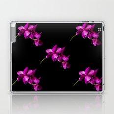 Dark Orchid Floral Laptop & iPad Skin