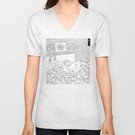 Coloring for Real Grownups. Late Night Unisex V-Neck
