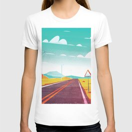 Life is a Highway Kitschy Vintage Retro Watercolor Mid Century Style T-shirt