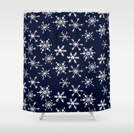 SOWFLAKES - BLUE Shower Curtain
