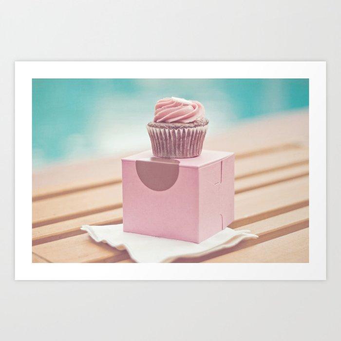 Californian Cupcake Art Print