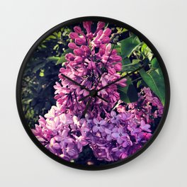 April Showers Bring May Flowers  Wall Clock
