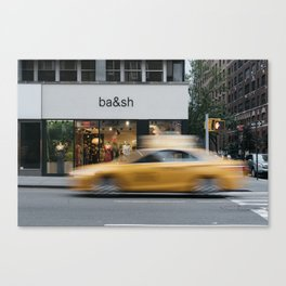 Luxury shop in Upper East Side of Manhattan,New York City Canvas Print