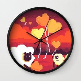 Helping Sheep Snding Love Wall Clock