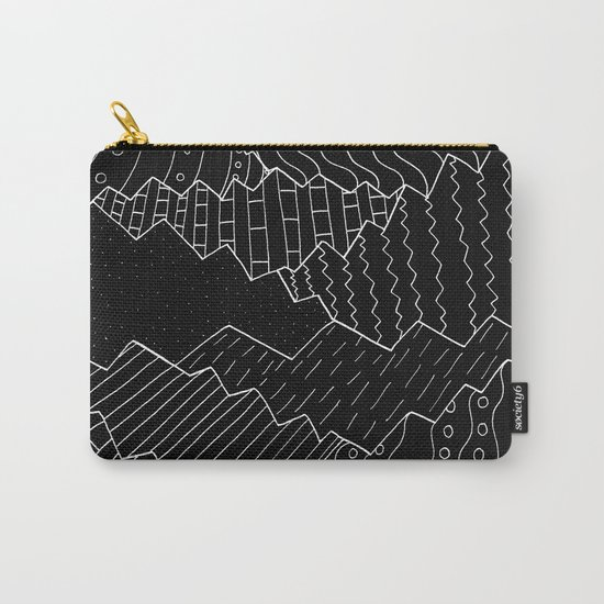 The black and white mountains Carry-All Pouch