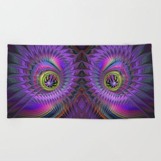 Peacock eye Beach Towel