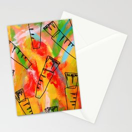 Food Illustration Carrots Pattern Vegetable Painting Stationery Cards