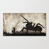 courage Canvas Prints featuring courage by Seamless