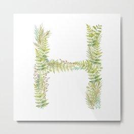 Initial H Metal Print