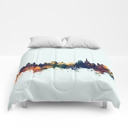 Lausanne Switzerland Skyline Comforters