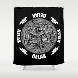 Yoga Relax Relaxation Mantra Meditation Shower Curtain