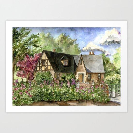 Tudor House on Kentucky Avenue Art Print