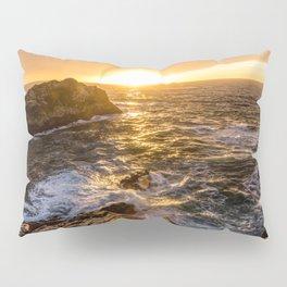 In Waves - Waves Crashing Into Rocks at Sunset In Big Sur Pillow Sham
