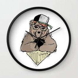 Sozoryoko Original Branding - Fancy Bear Wall Clock