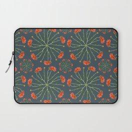Coral Mum Floral Pattern - Realistic Flowers - Chrysanthemum Bloom Pattern Laptop Sleeve