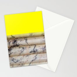 Greek Yellow Marble Stationery Cards