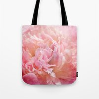 peony Tote Bags featuring Peony by KunstFabrik_StaticMovement Manu Jobst