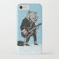 rhino iPhone & iPod Cases featuring Rhino by Ronan Lynam