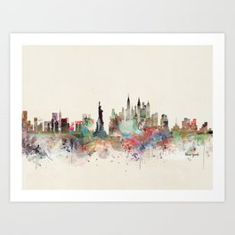 new york city skyline Kunstdrucke