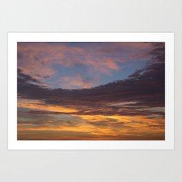 Sky on Fire. Art Print