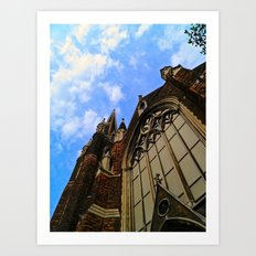 Up to the Clouds Art Print