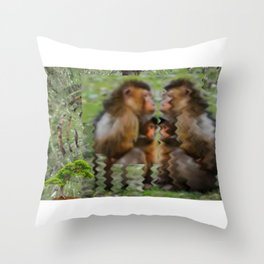 Mother and Child Contemplate Existence  Throw Pillow