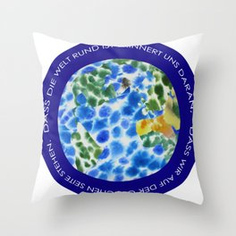 One Side - German Throw Pillow