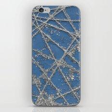 Sparkle Net Blue iPhone Skin