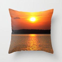 Sundown on the Lake Throw Pillow