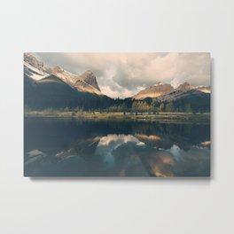 Mystic Mountain - Banff Nature, Landscape Photography Metal Print