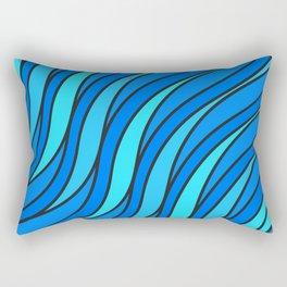 Abstract blue waves Rectangular Pillow