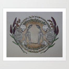 Till We Meet Death Art Print