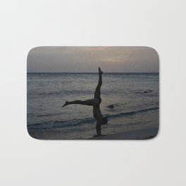 Dancer on the Beach Bath Mat