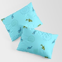 Blue Dolphin and Orca Pillow Sham