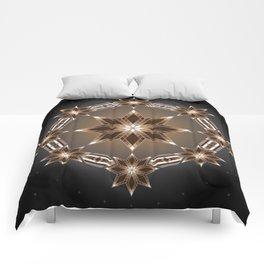 Morning Star Circle (Brown) Comforters