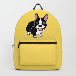 Happy Boston Terrier Backpack
