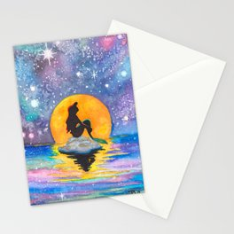 The Little Mermaid Galaxy Stationery Cards