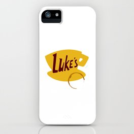 Luke's Diner (Coffee Stain, No Border) iPhone Case