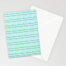 chevron blue&green Stationery Cards
